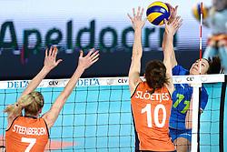 26-09-2015 NED: Volleyball European Championship Nederland - Slovenie, Apeldoorn<br /> Ziva Recek #11<br /> Photo by Ronald Hoogendoorn / Sportida