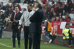 January 3, 2018 - Lisbon, Portugal - Benfica's coach Rui Vitoria reacts during the Portuguese League  football match between SL Benfica and Sporting CP at Luz  Stadium in Lisbon on January 3, 2018. (Credit Image: © Carlos Costa/NurPhoto via ZUMA Press)