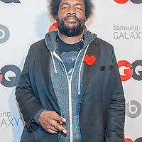 Quest Love from The Roots posing at the GQ & Lebron James NBA All Star Style party sponsored by Samsung Galaxy on Saturday, February 15, 2014, at the Ogden Museum of Southern Art in New Orleans, Louisiana with live jam session from grammy Award-winning Artist The Roots. Photo Credit: Gustavo Escanelle / Retna Ltd.