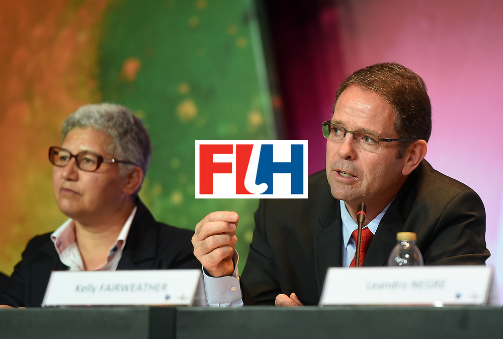 DUBAI, UNITED ARAB EMIRATES - NOVEMBER 12: Kelly Fairweather, CEO of International Hockey Federation speaks during the 45th FIH Congress on November 12, 2016 in Dubai, United Arab Emirates.  (Photo by Tom Dulat/Getty Images)