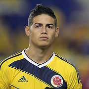 James Rodríguez, Columbia, during the Columbia Vs Canada friendly international football match at Red Bull Arena, Harrison, New Jersey. USA. 14th October 2014. Photo Tim Clayton