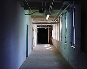 hall in an old industrial building