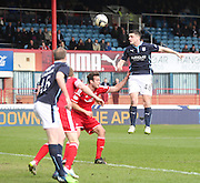 Dundee's Stephen McGinn just fails to get his head to a cross - Dundee v Aberdeen, SPFL Premiership at Dens Park<br /> <br />  - &copy; David Young - www.davidyoungphoto.co.uk - email: davidyoungphoto@gmail.com