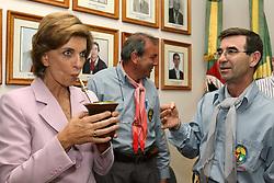 A candidata ao governo do Estado do RS Yeda Crusius visita a sede do MTG, em Porto Alegre FOTO: Jefferson Bernardes/Preview.com