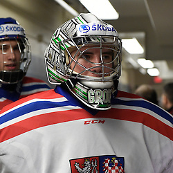 WELLINGTON, - Dec 11, 2015 -  Exhibition Game 1- Czech Republic vs OJHL All Stars at the 2015 World Junior A Challenge at the Wellington District Community Centre, ON. Dominik Groh #2 of Team Czech Republic during the pre-game warmup. (Photo: Andy Corneau / OJHL Images)