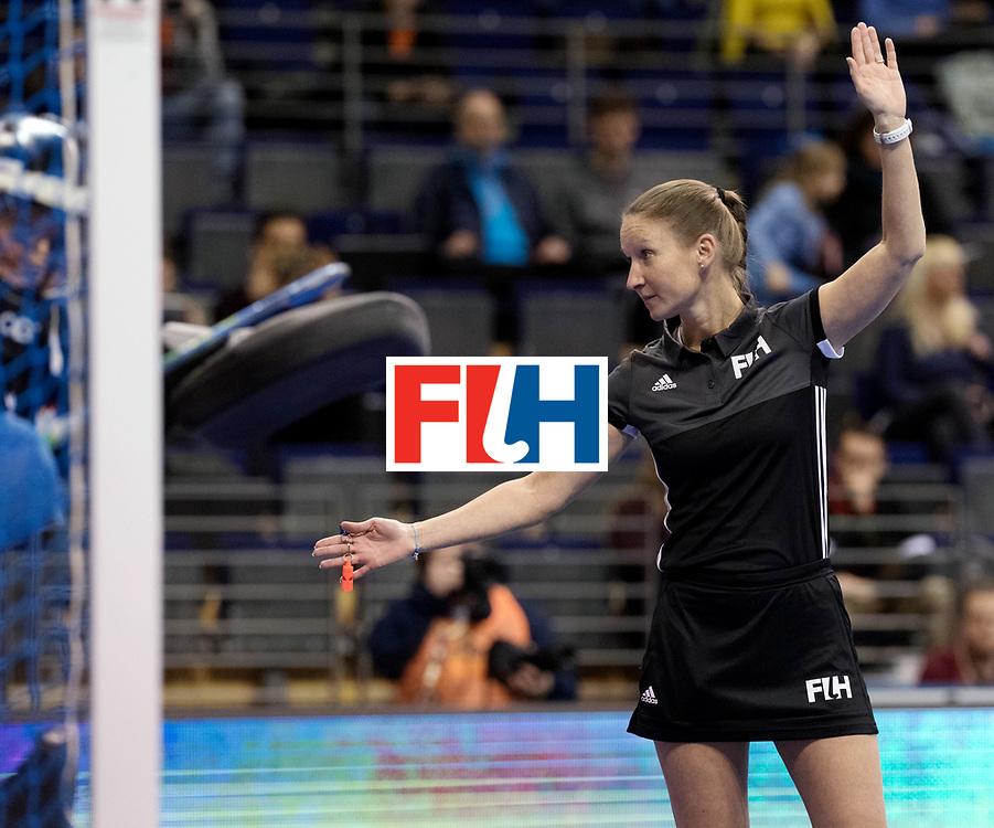 BERLIN - Indoor Hockey World Cup<br /> Women: Poland - Netherlands<br /> foto: Michelle Meister.<br /> WORLDSPORTPICS COPYRIGHT FRANK UIJLENBROEK