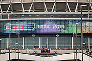 Wembley stadium welcomes fans before the Johnstone's Paint Trophy Final match at Wembley Stadium, London<br /> Picture by David Horn/Focus Images Ltd +44 7545 970036<br /> 30/03/2014