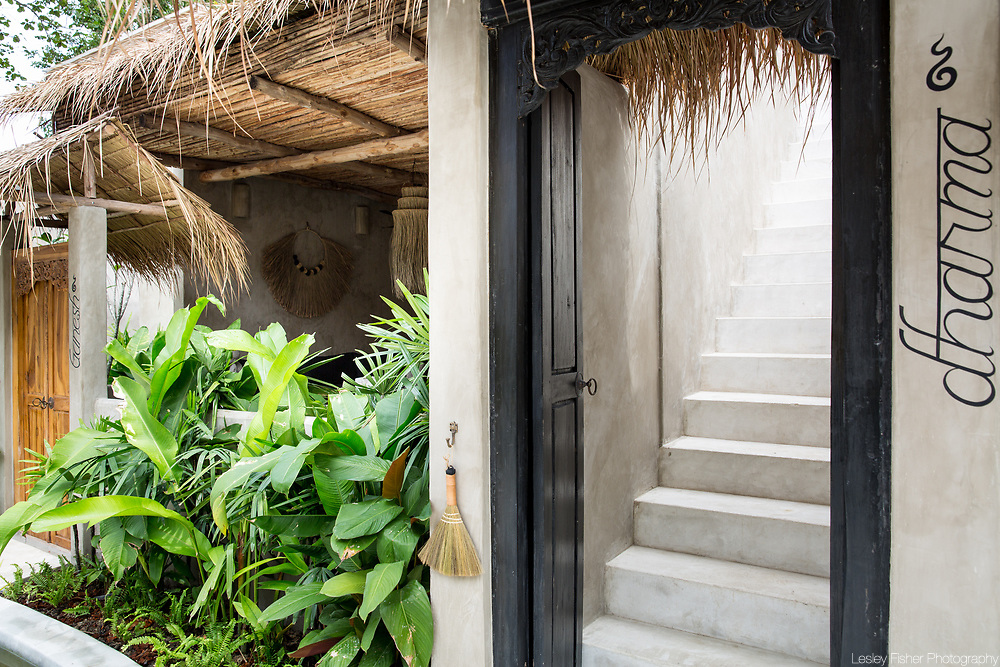 Entrance of Terrace villa at Karma Beach Resort. A Beach resort located on Bophut Beach, Koh Samui, Thailand