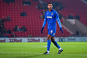 AFC Wimbledon defender Terell Thomas (6) during the The FA Cup match between Doncaster Rovers and AFC Wimbledon at the Keepmoat Stadium, Doncaster, England on 19 November 2019.