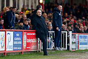 Accrington Stanley Manager John Coleman and Bristol Rovers Manager Graham Coughlan during the EFL Sky Bet League 1 match between Accrington Stanley and Bristol Rovers at the Fraser Eagle Stadium, Accrington, England on 12 January 2019.