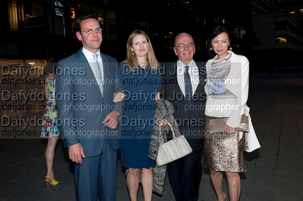 JAMES MURDOCH; KATHRYN MURDOCH; RUPERT MURDOCH; WENDI DENG, Summer party hosted by Rupert Murdoch. Oxo Tower, London. 17 June 2009
