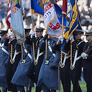 Army Corps and Navy Midshipmen presents colors prior to the start of the 112th version of the storied rivalry game between Army and Navy Saturday, Dec. 10, 2011 at Fed EX field in Landover Md. <br /> <br /> Navy set the tone early in the game as Navy defeats Army 31-17 in front of 82,000 at Fed EX Field in Landover Md