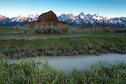 Sunrise at the Moulton Barn in Grand Teton National Park