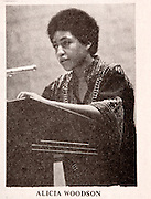 18625Copy photos from old Post articles: Alicia Woodson...Alicia Woodson and she was the first black woman elected student body president 1969