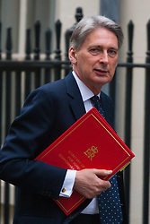 London, February 10th 2015. Ministers arrive at the weekly cabinet meeting at 10 Downing Street. PICTURED: Defence Secretary Philip Hammond