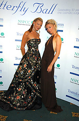 Left to right, model CAPRICE BOURRET and TAMARA BECKWITH at the Butterfly Ball in aid of the NSPCC held at The Intercontinental Hotel, Park Lane, London on 9th September 2005.<br />
