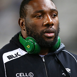 DURBAN, SOUTH AFRICA, 9,JULY, 2016 Tendai Mtawarira (captain) of the Cell C Sharks during The Cell C Sharks vs Toyota Cheetahs  Super Rugby Match at Growthpoint Kings Park in Durban, South Africa. (Photo by Steve Haag)<br /> <br /> images for social media must have consent from Steve Haag