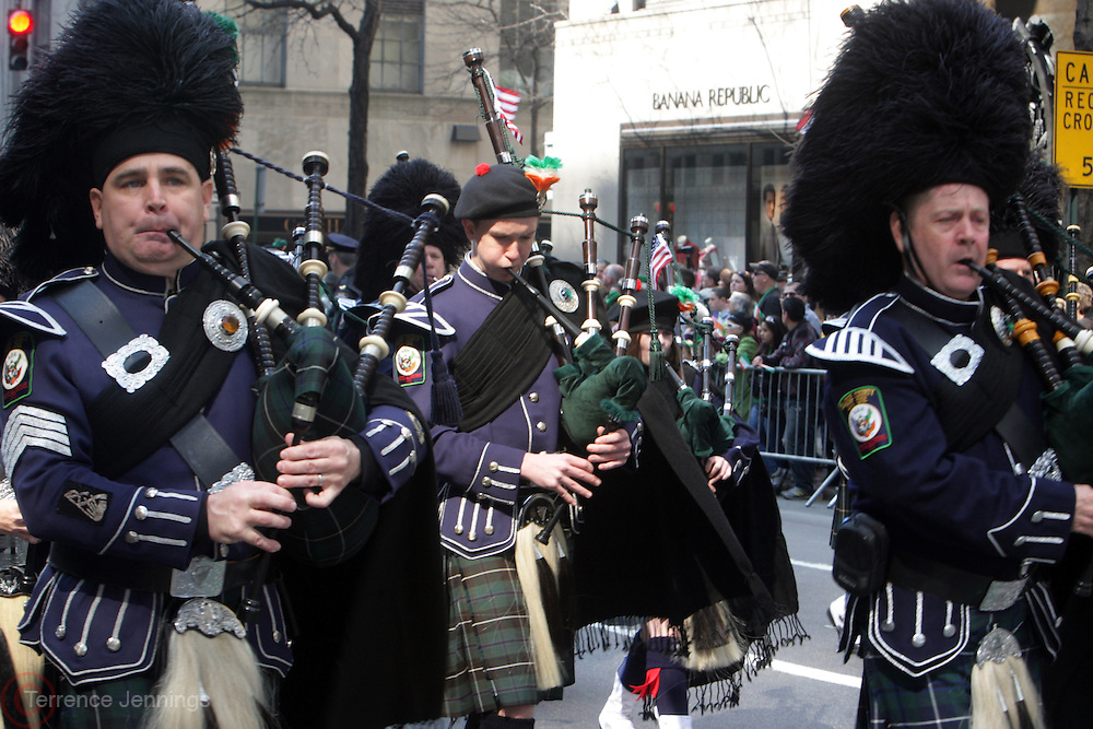 New York, NY- MARCH 12:  Parade Participants at the 251st Annual St. Patricks Day Parade held along 5th Ave on March 12, 2012 in New York City. Photo by Terrence Jennings