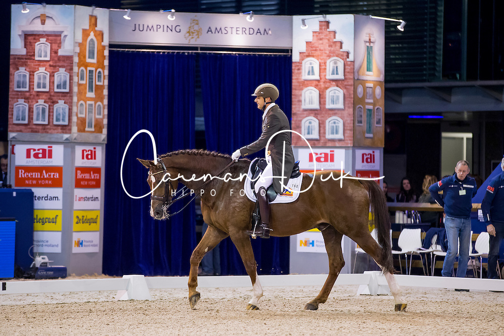 Van Der Meer Patrick, NED, Zippo<br /> FEI World Cup Dressage - Grand Prix<br /> Jumping Amsterdam 2017<br /> &copy; Hippo Foto - Leanjo de Koster<br /> 27/01/17