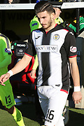 St Mirren defender Mihai Popescu (16) takes to the field of play during the Ladbrokes Scottish Premiership match between St Mirren and Hibernian at the Paisley 2021 Stadium, St Mirren, Scotland on 27 January 2019.