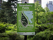Signage in Central Park: Strawberry Fields