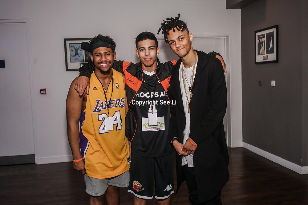 London,England,UK. 14th May 2017. X Factor 5 After Midnight attends the BBL Play-Off Finals also fundraising for Hoops Aid 2017 but also a major fundraising opportunity for the Sports Traider Charity at London's O2 Arena, UK. by See Li