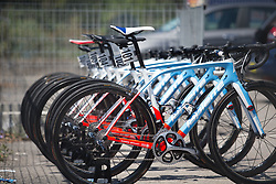 FDJ Nouvelle Aquitaine Futuroscope Team bikes are ready for Stage 8 of the Giro Rosa - a 141.8 km road race, between Baronissi and Centola fraz. Palinuro on July 7, 2017, in Salerno, Italy. (Photo by Balint Hamvas/Velofocus.com)