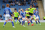 Northampton midfielder Paul Anderson (4) scores a goal (1-1) during the EFL Sky Bet League 1 match between Chesterfield and Northampton Town at the Proact stadium, Chesterfield, England on 17 September 2016. Photo by Aaron  Lupton.