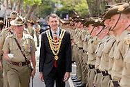 6th Battalion Royal Australian Regiment to Exercise the Right to  - December 5, 2015: Brisbane CBD, Brisbane, Queensland, Australia. Credit: Pat Brunet / Event Photos Australia
