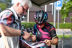 Trixi Worrack (CANYON//SRAM Racing) on autograph duties at Thüringen Rundfarht 2016 - Stage 4 a 19km time trial starting and finishing in Zeulenroda Triebes, Germany on 18th July 2016.