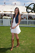 AMBER LE BON, Cartier International Polo. Guards Polo Club. Windsor Great Park. 25 July 2010. -DO NOT ARCHIVE-© Copyright Photograph by Dafydd Jones. 248 Clapham Rd. London SW9 0PZ. Tel 0207 820 0771. www.dafjones.com.
