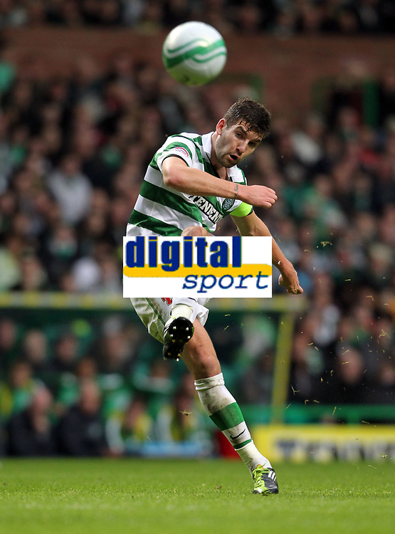 Football - Scottish Premier League - Celtic vs. Aberdeen<br /> <br /> Charlie Mulgrew of Celtic drives a free kick goalward during the Celtic vs. Aberdeen Scottish Premier League match at Celtic Park, Glasgow on October 23rd 2011<br /> <br /> <br /> Ian MacNicol/Colorsport