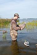 Youth waterfowl hunt, Saginaw Bay, Michigan