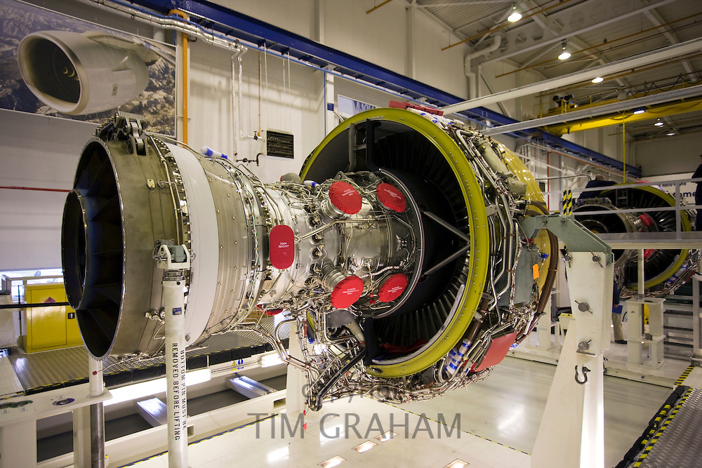 Rolls Royce jet engine production factory, Derbyshire, United Kingdom