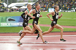 Olympic Trials Eugene 2012: men's 10,000 meter fianal, top three making Olympic team, Ritzenhein leads Rupp, Tegankamp