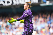 Manchester United Women goalkeeper Mary Earps (27) during the FA Women's Super League match between Manchester City Women and Manchester United Women at the Sport City Academy Stadium, Manchester, United Kingdom on 7 September 2019.