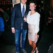 NLD/Amsterdam/20121206 - Onthulling Playboy Tatjana Simic kalender, Lange Frans Frederiks met partner Danielle van Aalderen