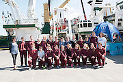 As part of the SEA FOR SOCIETY ocean awareness initiative pupils and teachers from Scoil Iognaid Galway visited the Marine Institute's RV Celtic Explorer . Photo:Andrew Downes:XPOSURE