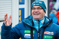 Stane Baloh - Sten, head coach of Slovenia during 1st Round at Day 1 of FIS Ski Jumping World Cup Ladies Ljubno 2018, on January 27, 2018 in Ljubno ob Savinji, Ljubno ob Savinji, Slovenia. Photo by Ziga Zupan / Sportida