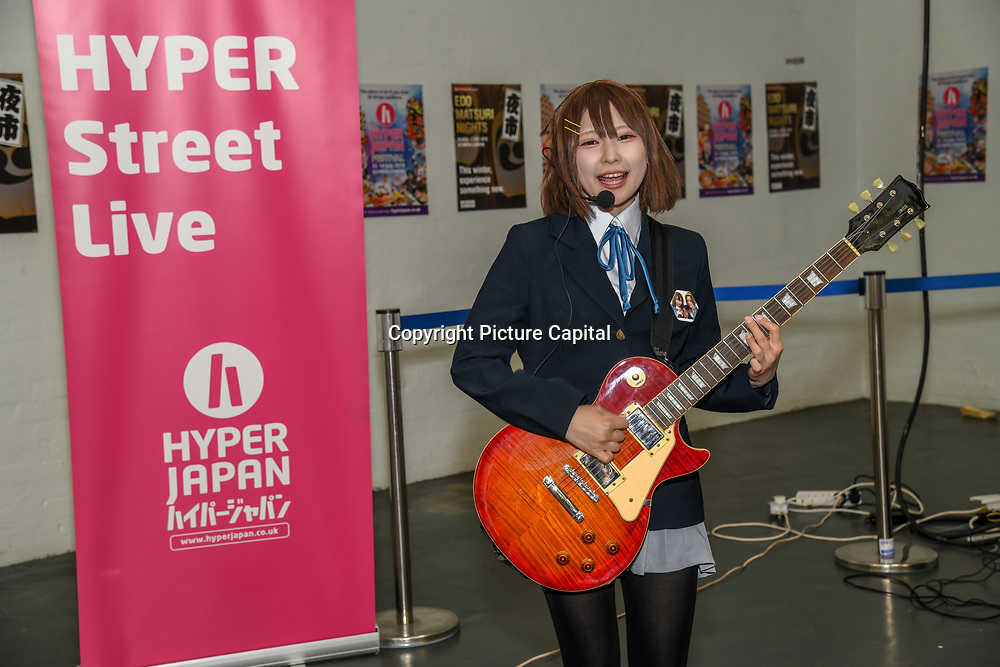 Japan Street Music at Hyper Japan Festival 2019 on 12 July 2019, Olympia London, UK.