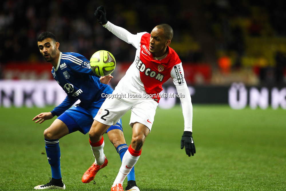 FABINHO / Rachid GHEZZAL - 01.02.2015 - Monaco / Lyon - 23eme journee de Ligue 1 -<br />