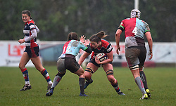 Amelia Buckland-Hurry of Bristol Ladies on the attack - Mandatory by-line: Paul Knight/JMP - 03/02/2018 - RUGBY - Cleve RFC - Bristol, England - Bristol Ladies v Harlequins Ladies - Tyrrells Premier 15s