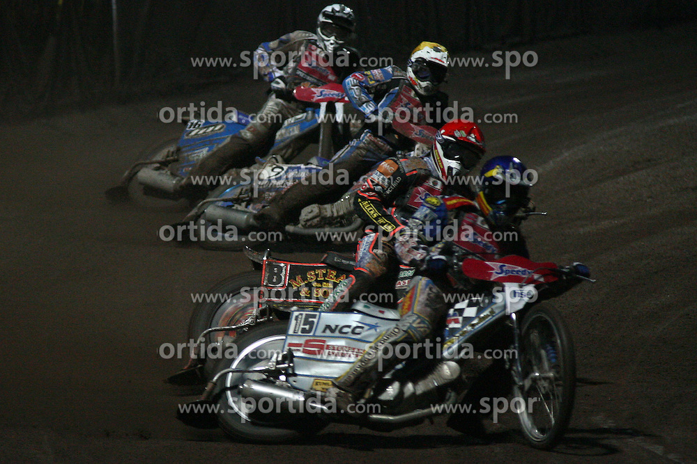 Lindgren, Nicholls, Hariss and Zagar at Speedway Grand Prix Krsko 2008, on April 26, 2008, in Krsko, Slovenia. (Photo by Vid Ponikvar / Sportal Images)../ Sportida)