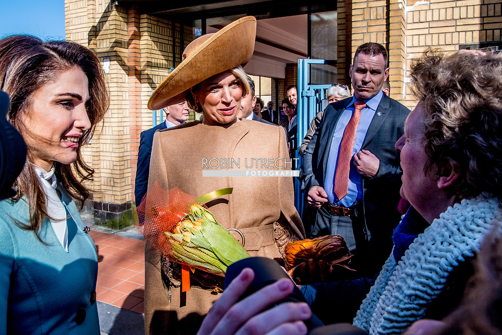 20-3-2018 THE HAGUE - Queen Maxima  and Queen Rania visit the gemeente museum in the hague  .King Abdullah II and Queen Rania<br />  of Jordan will visit the netherlands for 2 days for a official visit ROBIN UTRECHT