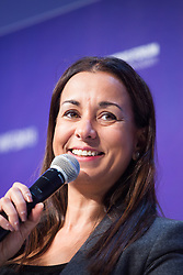 Ilham Kadri, President and CEO, Diversey speaks during the opening session of the Women's Forum Global Meeting in Paris on November 15, 2018. Photo by Raphaël Lafargue/ABACAPRESS.COM
