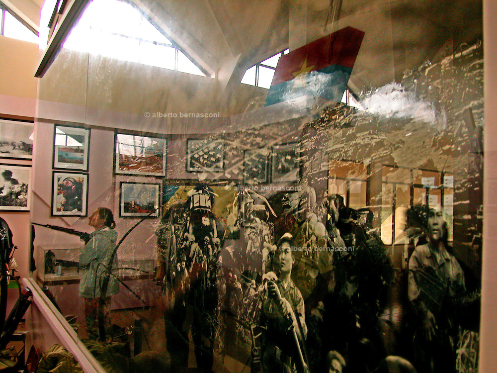 Vietnam,DMZ, Khe Sanh: visiting the a memorial museum with lot of military hardware, the outlines of the old airfield - and the unidentified (and still lost) remains of some of the people who died there. Sometimes  tour guides had led search parties and veterans who still come to the area to look for bodies or to connect with the terrible past here.