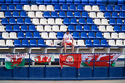 MARBELLA, SPAIN - Tuesday, March 5, 2019: A Wales supporter during an international friendly match between Wales and Republic of Ireland at the Estadio Municipal de Marbella. (Pic by David Rawcliffe/Propaganda)