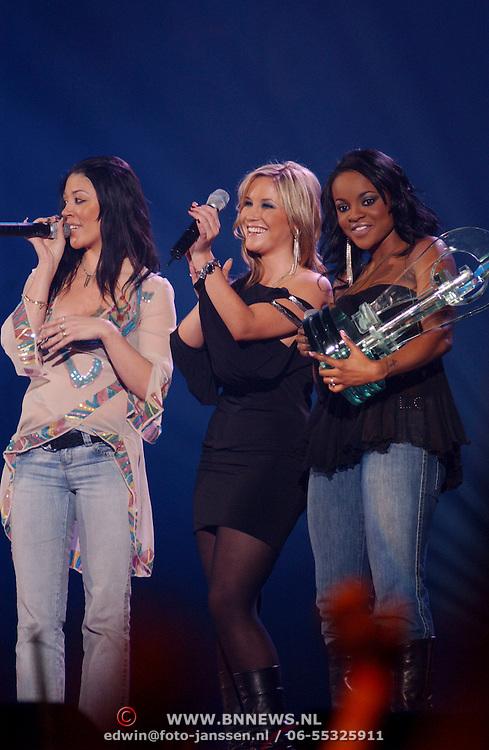 TMF awards 2004, Sugar Babes, Muyta, Heidi Range, Keisha Buchanan