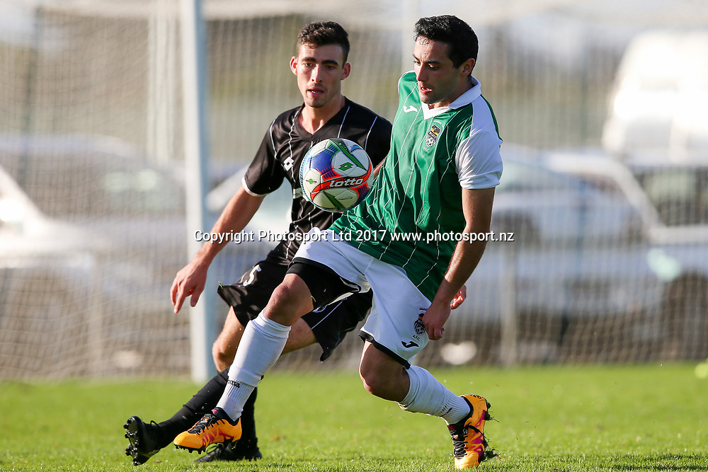 Manukau City's Erber Chavarria controls the ball. ISPS Handa Chatham Cup Round 2, Waitakere City FC v Manukau City AFC, Fred Taylor Park, Whenuapai, Auckland, Monday 5th June 2017. Copyright Photo: David Joseph  / www.photosport.nz