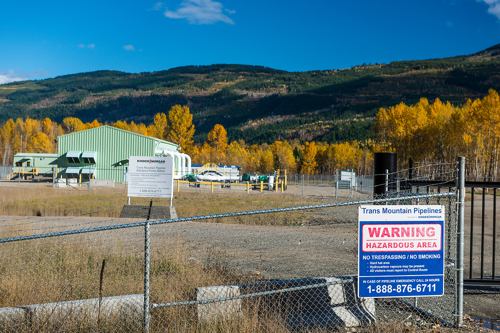 Kinder Morgan Trans Mountain Pipeline Blackpool Pump Station on the yellowhead highway. The Summer 2017 wildfires came within 16 kilometres of this installation causing Kinder Morgan to take certain precautions at the time. however one has to question the wisdom of building fossil fuel infratructure in a region which is at increasing risk to forest fires as result of fossil fuel driven global warming.
